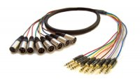 AVShop XLR Male to TRS 8-Channel Snake - 6ft