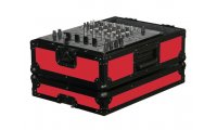Odyssey Designer DJ 12in Mixer Case - Black on Red