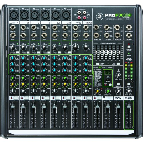 Mackie ProFX12v2 12-Channel Mixer w/ Effects & USB