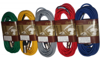 BRTB Microphone Colour Cable Pack(Red,Green,Blue,Grey,Yellow) -25 Foot