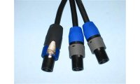 BRTB Neutrik NL4 Speakon to Dual NL2 Speaker Cable - 12 Gauge