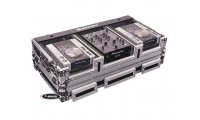 Odyssey DJ Coffin for Med CD Players & 10in Mixer with Wheels