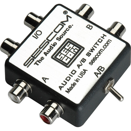 Sescom SES-AUDIO-AB RCA Stereo Audio A/B Switch